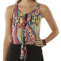 Geo Tie Front Tank | Shop Tribal at Wet Seal