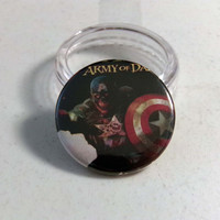 "Comic Book 1.5"" Button// Zombie Captain America"