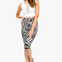 Abstract Geo Midi Skirt