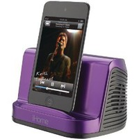 iHome iHM16U Portable Stereo Speaker System for iPad, iPod and MP3 Player, 3.5 mm line-in (Purple) - More Colors Available