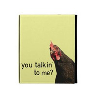 Funny Attitude Chicken iPad Cases from Zazzle.com