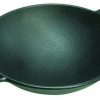 "Lodge Pro Logic 14"" Cast Iron Wok, Black"