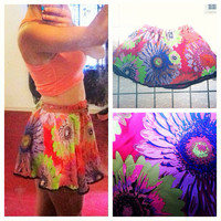 Warhol Floral skirt  by AngeliqueMerici on Etsy