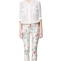 5 POCKET FLORAL PRINT TROUSERS - Woman - New this week | ZARA United States
