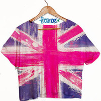Union Jack Crop Sleeve | fresh-tops.com