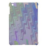 Waves of Green and Purple iPad Mini Case from Zazzle.com