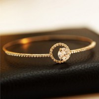 Circle of Shines Rhinestone Bangle | LilyFair Jewelry
