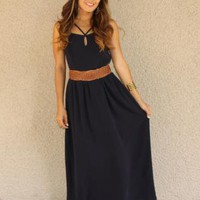 'Tracy' Detailed Strap Maxi Dress