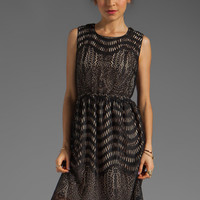 Anna Sui Wavy Scallop Lace Tank Dress in Black Multi from REVOLVEclothing.com