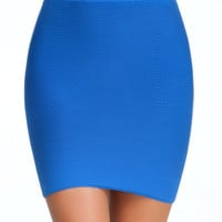 Textured Bodycon Skirt - ONLINE EXCLUSIVE