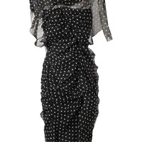 Nina Ricci Polka Dot Silk Chiffon Dress - Browns - Farfetch.com