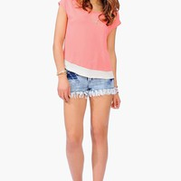 Contrast It Top - Coral