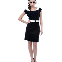 Heartbreaker 1960's Style Black Haute Marlene Dress - Unique Vintage - Prom dresses, retro dresses, retro swimsuits.