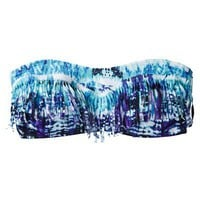 Xhilaration® Junior's Bandeau Swim Top -Tie Dye Print