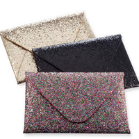 SALE! Glam Glitter Envelope Clutch - Unique Vintage - Prom dresses, retro dresses, retro swimsuits.