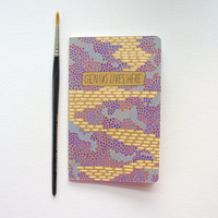 graduation gift, illustrated moleskine pocket notebook - genius lives here