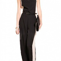 Two Tone Chiffon Jumpsuit