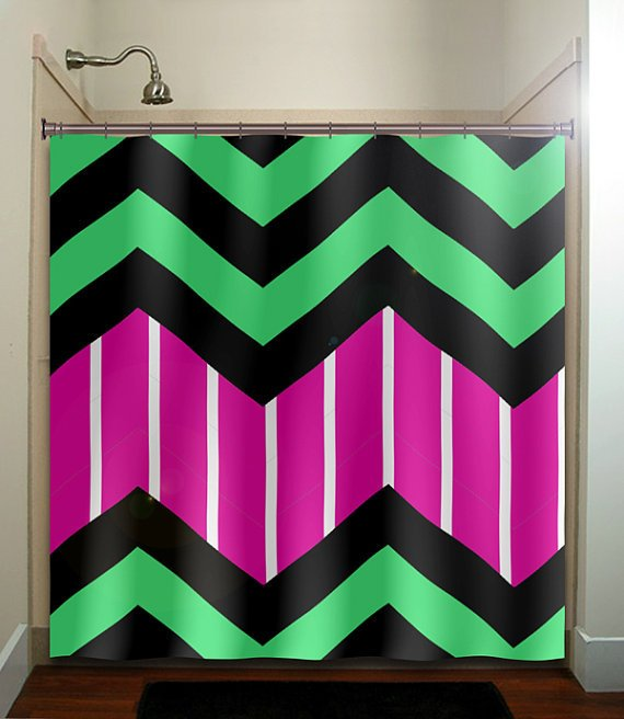 Candy Stripe Magenta Green Zigzag Chevron From Tablishedworks On