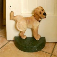 Door Stop Dog Hand Painted : Black Country Metalworks Ltd