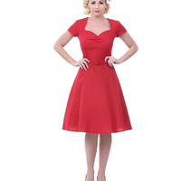Heartbreaker 50's Style Lynette Red Aimee Sweetheart Dress - Unique Vintage - Prom dresses, retro dresses, retro swimsuits.