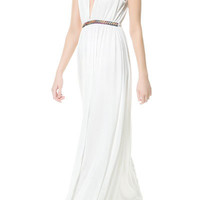 LONG GRECIAN DRESS - Trf - Dresses - Woman | ZARA United States
