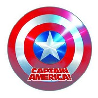Amazon.com: Custom Captain America Shield Round Mouse Pad - Custom Your Own MP-805: Office Products