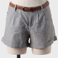 Bar Harbor Belted Stripe Shorts