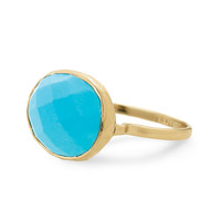 Turquoise Stone & Gold Cocktail Ring | Mary-Margaret Ring | Stella & Dot