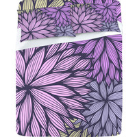 DENY Designs Home Accessories | Gabi Purple Dahlia Sheet Set