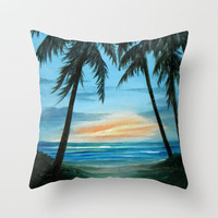 Good Morning Sunshine Throw Pillow by Rosie Brown