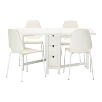 NORDEN/VILMAR Table and 4 chairs, white - IKEA