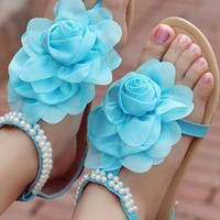 Flower Flat  Sandals from guipure