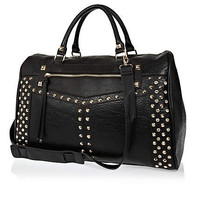 Black stud and gem bowler bag