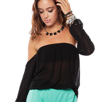Papaya Clothing Online :: OFF SHOULDER DRAPE TOP