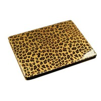 Leather Leopard Print Ipad 4/3/2 Case
