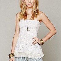 Free People  FP ONE Crochet Peplum Tank at Free People Clothing Boutique
