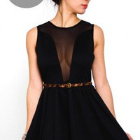 Lulu Dress- For Love and lemons Black Mesh Dress-$95