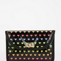 Cooperative Rainbow Heart Turn-Lock Pouch