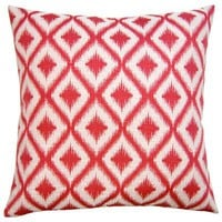 Unpocobusy Pink Diamonds Throw Pillow