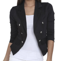 Ruched Double Breasted Blazer | Shop Jackets at Wet Seal