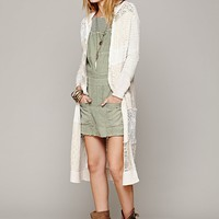 Free People Patchwork Hooded Cardigan