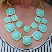 Square And There Necklace: Mint | Hope's