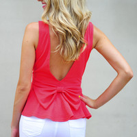 Peplum Makes My Heart Happy Top: Coral | Hope's