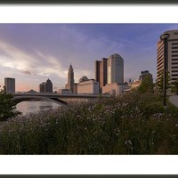 Sunset In Columbus Ohio Framed Print By Dick Wood