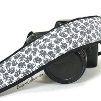 Elephant Camera Strap, Grey, Gray, Black, White, dSLR, SLR, Lucky Elephant