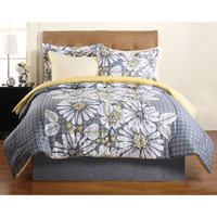 Walmart: Hometrends Graphic Floral Complete Bedding Set