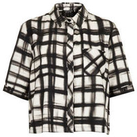 Monochrome Check Print Shirt - New In This Week  - New In