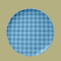 Checkered Blue Dinner Plate from Zazzle.com
