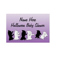 Halloween Baby Shower Yard Signs - Purple from Zazzle.com