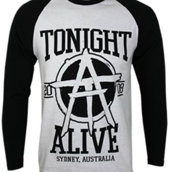Tonight Alive Est.2008 Long Sleeved Men's Baseball T-Shirt - Offical Band Merch - Buy Online at Grindstore.com